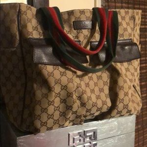 Xtra Large Gucci Shopper Tote Bag 100% Authentic
